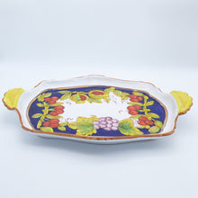 Load image into Gallery viewer, Pomegranates, cherries & grapes - fancy tray with handles 38cm x 26cm