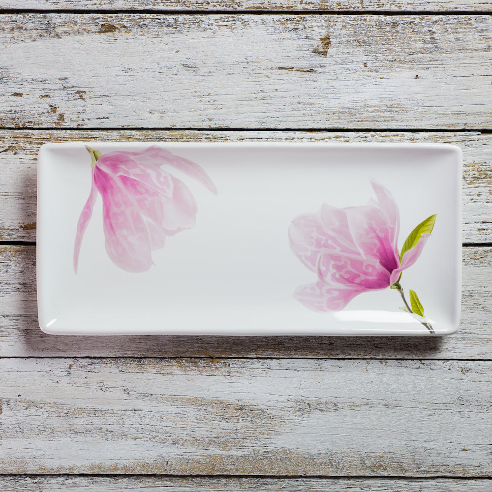Rectangular tray - large (15cm x 33cm) - Magnolia