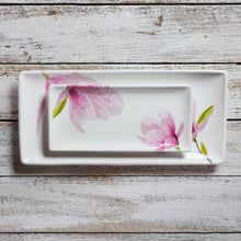 Load image into Gallery viewer, Rectangular tray - large (15cm x 33cm) - Magnolia
