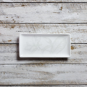 Rectangular tray - small (11cm x 23cm) - All White