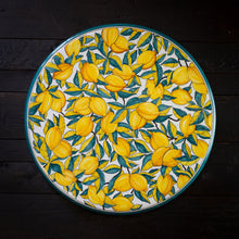 Load image into Gallery viewer, Ceramic table top - 60cm diam - Lemon, green & white