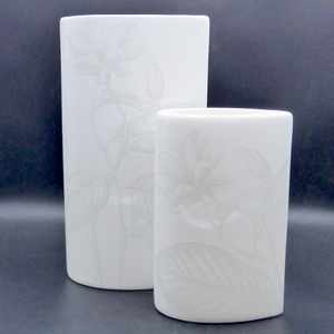 'Simple' vase - small (20x12cm)- All White
