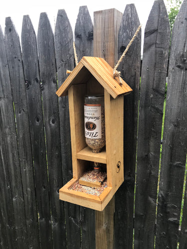 Rustic Tito's Bird Feeder, Reclaimed Wood, Upcycled, Garden Gifts