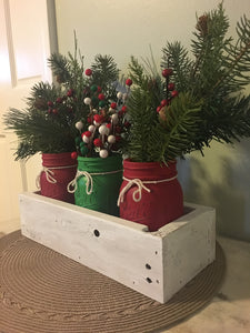Christmas Mason Jar Centerpiece