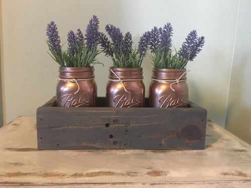 Mason Jar Centerpiece-Rustic Mason Jar Holder