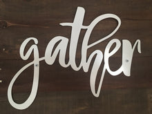 Rustic Gather Sign, Reclaimed Wood, Dining Room Decor, Farmhouse Decor, Living Room Decor, Shabby Chic