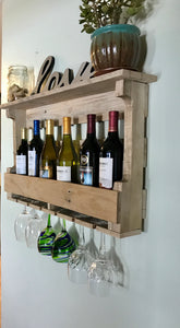 Wine Rack with 6 Glass Holders
