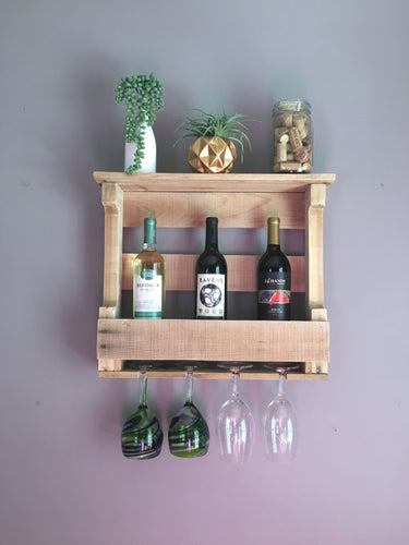Wine Rack made with Reclaimed Wood, Rustic Wine Rack