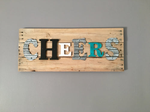 Cheers Wooden Pallet Sign..Rustic Wooden Signs..Kitchen Decor