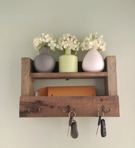 Entryway Key and Mail Holder