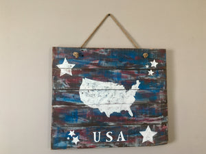 Rustic USA Pallet Sign, Patriotic Decor