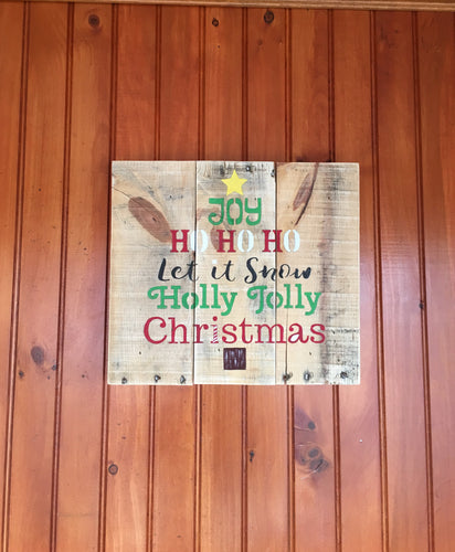Wooden Christmas Sign, Rustic Christmas Decor