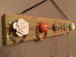Jewelry Organizer, Necklace Hanger, Wall Necklace Holder