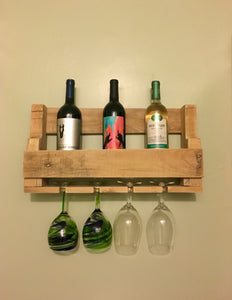 Reclaimed Wood Wine Rack, Farmhouse Decor
