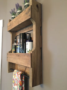 Rustic Bathroom Organizer made from reclaimed wood