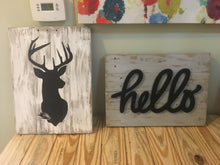 Rustic Wood Hello Sign, Reclaimed Wood, Living Room Decor, Farmhouse Decor, Shabby Chic, Dining Room Decor, Housewarming Gift