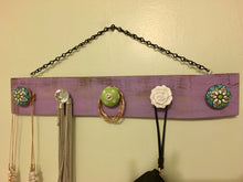 Purple Jewelry Organizer, Necklace Hanger, Gifts for Her