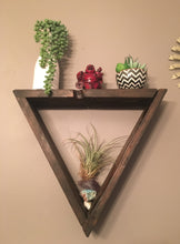 Wooden Triangle Shelf, Floating Triangle Shelf, Boho Decor