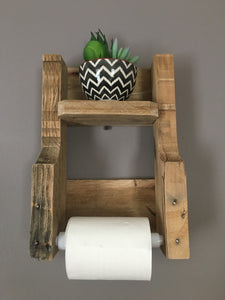 Reclaimed Wood Toilet Paper Holder