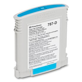 Genuine Pitney Bowes 787-D Cyan Ink Cartridge (Standard) for the SendPro P2000 Postage Meter