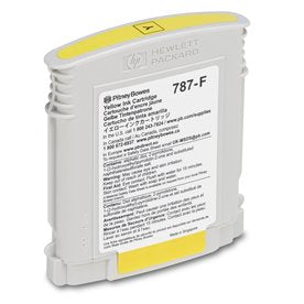 Genuine Pitney Bowes 787-F Yellow Ink Cartridge for the SendPro P3000 Postage Meter