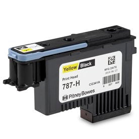 Genuine Pitney Bowes 787-H Yellow/Black Printhead for the Connect+ 1000 Mailing Systems