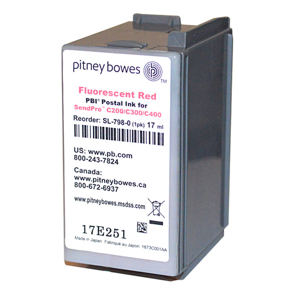 Genuine Pitney Bowes SL-798-0 Ink Cartridge For SendPro C Series Postage Meters