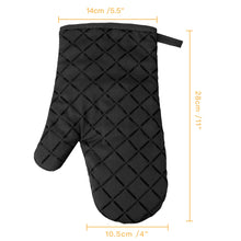 Cotton Oven Mitts with Silicone Heat Resistant