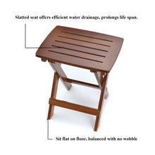 Eco-Friendly Bamboo Folding Stool for Leg Shaving Shower Foot Rest