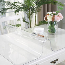 Clear PVC Table Top Protector Thick Multi Size