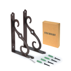 Wall Shelf Brackets Heavy Duty Black/ Brown/ White