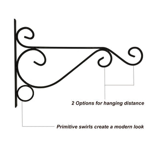"Pack of 2 10"" Metal Plant Hanging Hooks Wall Mount Black"