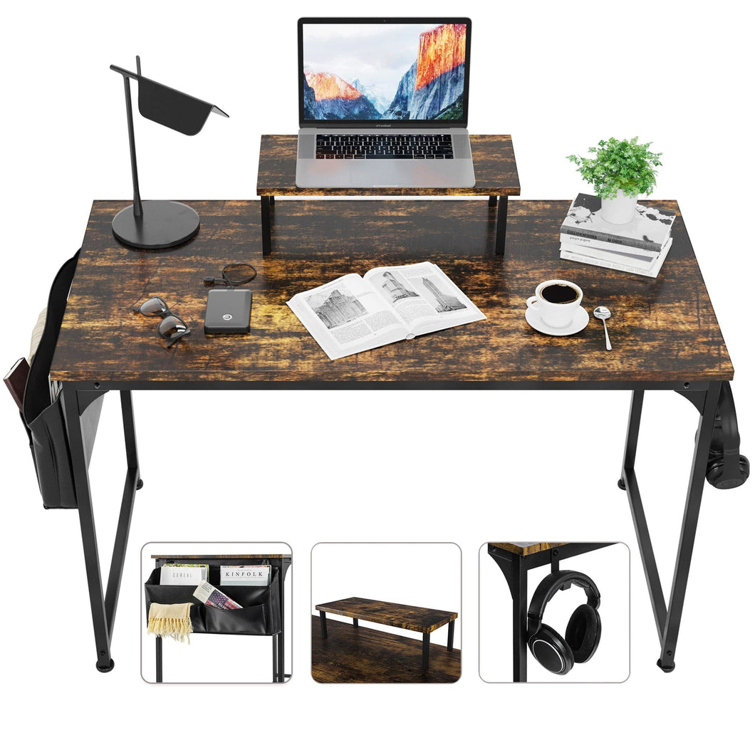 ETECHMART Vintage Home Office Computer Desk 47'' and 55''