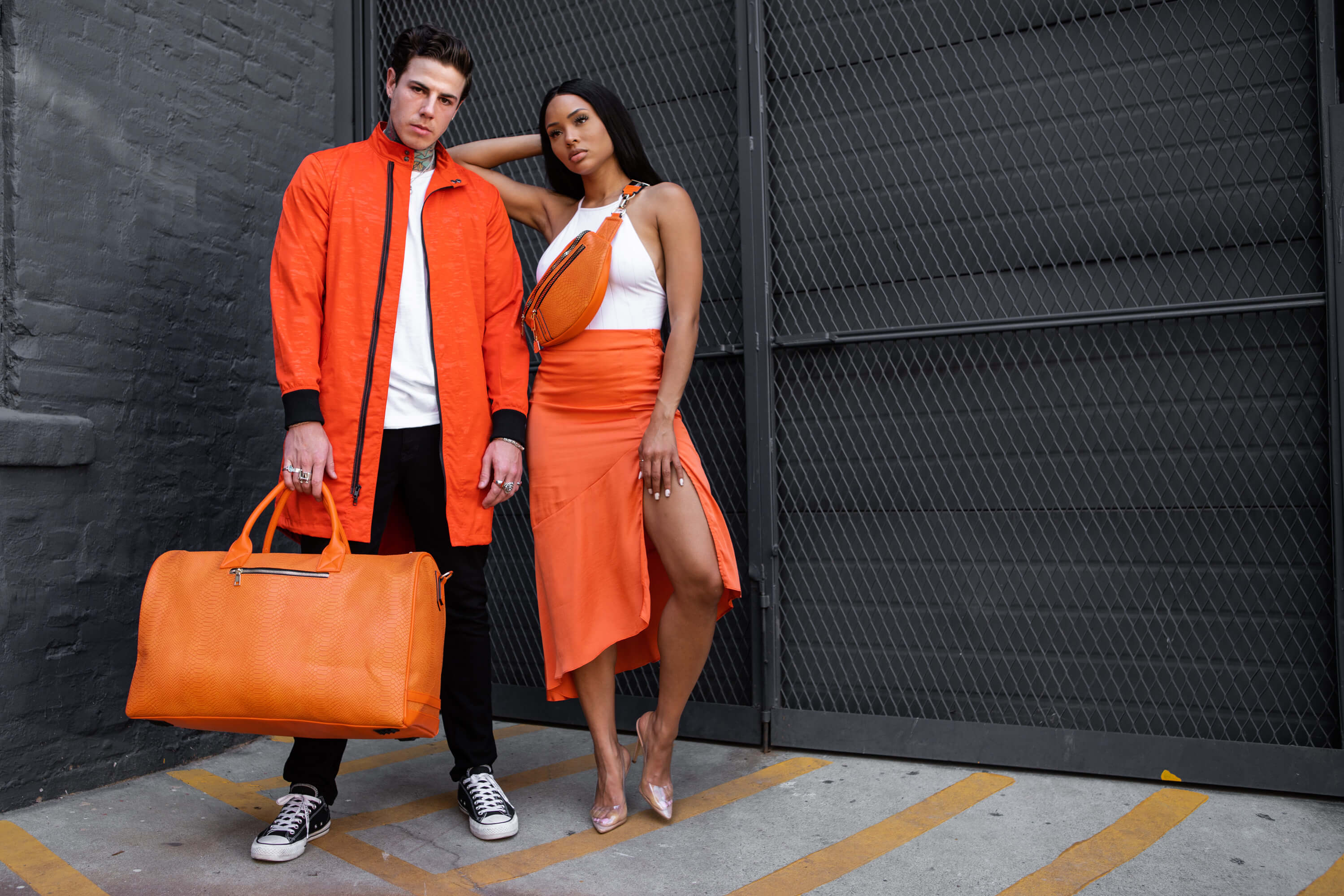 Tote&Carry Tangerine Apollo Duffle Bag & Orange Fanny Pack