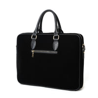 Black Velour Laptop Bag