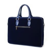 Royal Blue Velour Laptop Bag