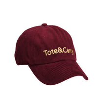 Tote&Carry Burgundy Corduroy Dad Cap