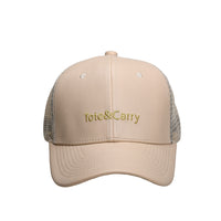 Tote&Carry White Creme Trucker Cap