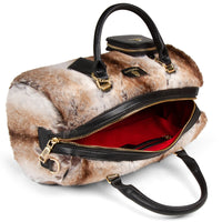 BLACK CHINCHILLA FUR PURSE