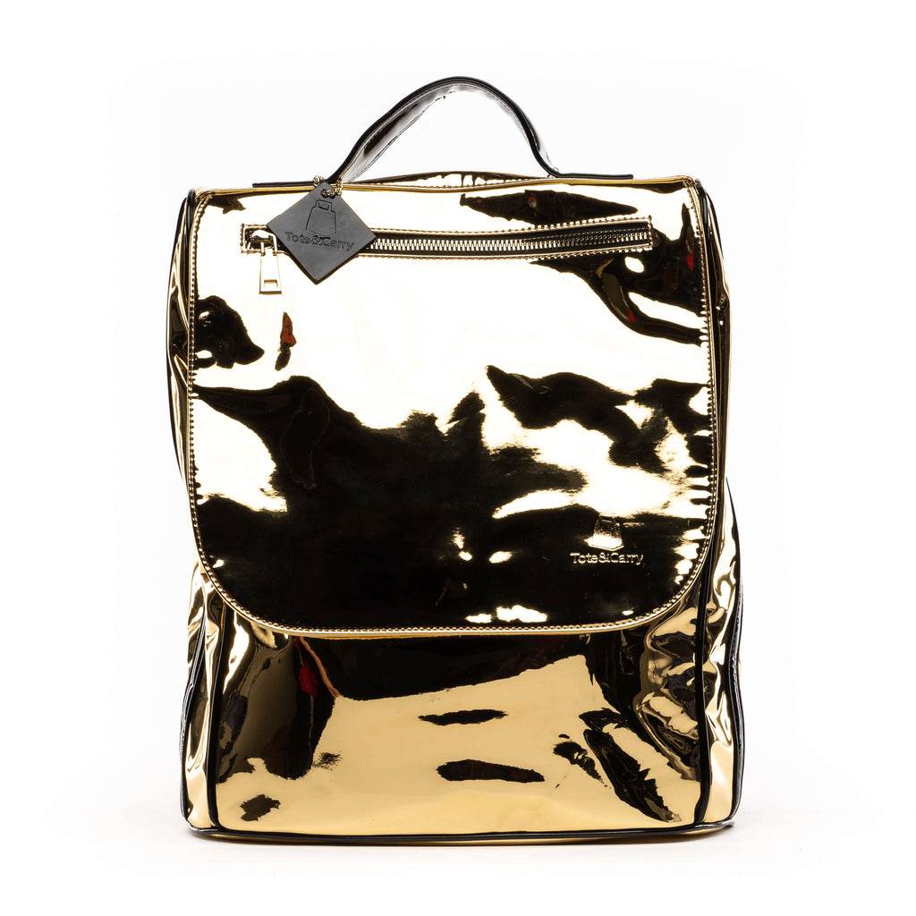 Gold Patent Apollo II Backpack
