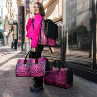 Pink Apollo III Tiger Pony Fur Travel Set