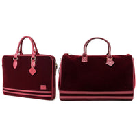 Burgundy Velour Duffle