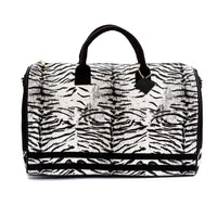 White Apollo III Tiger Pony Fur Travel Set