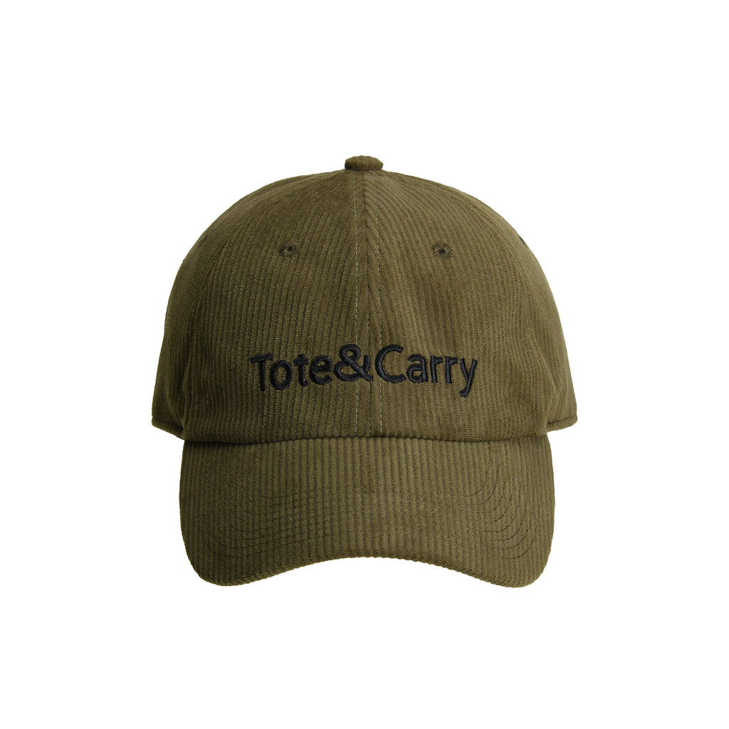 Tote&Carry Olive Green Corduroy Dad Cap
