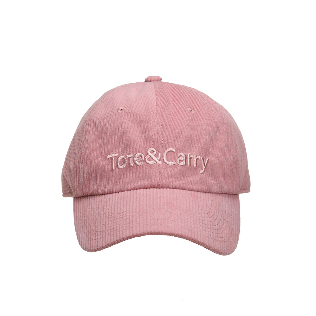 Tote&Carry Pink Corduroy Dad Cap
