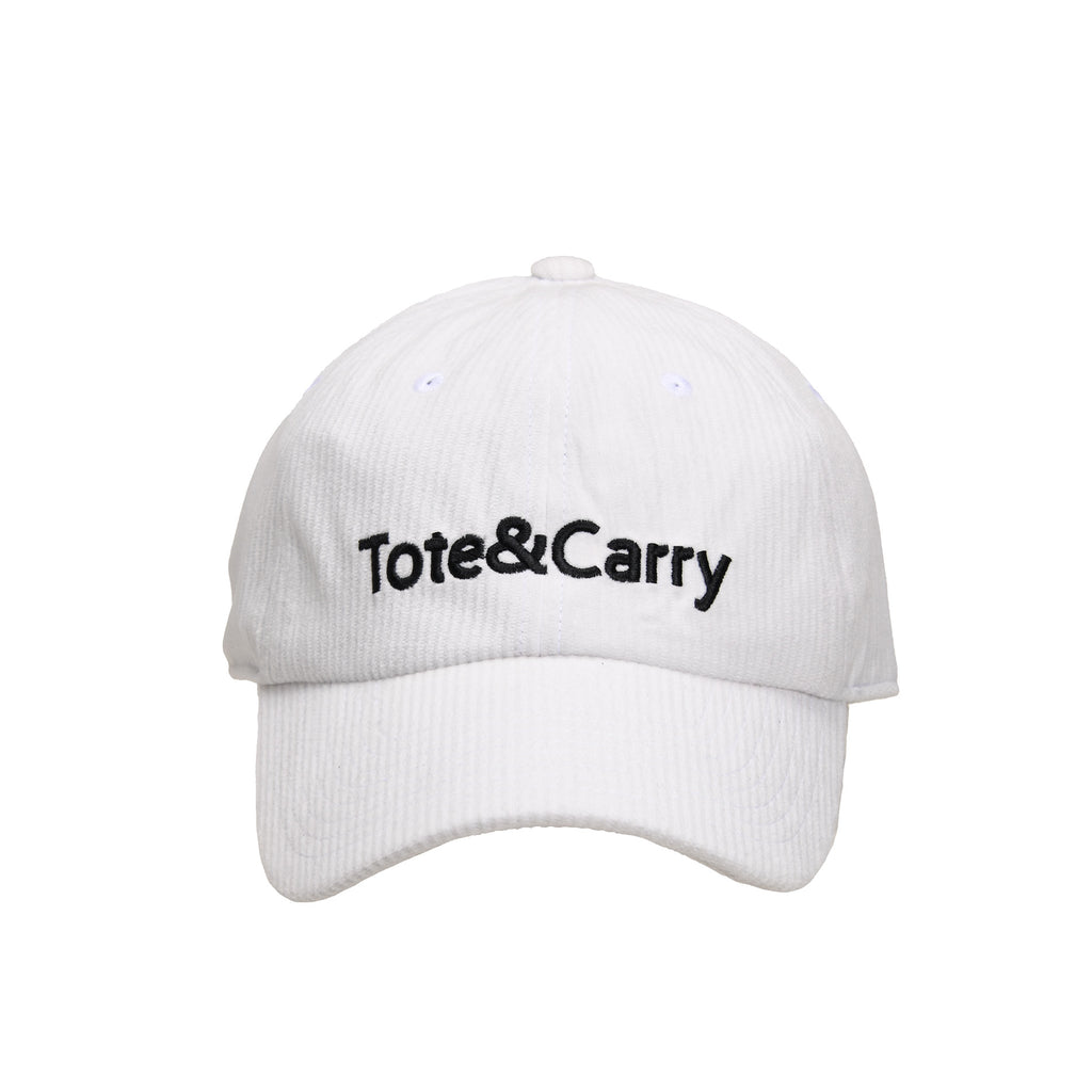 Tote&Carry White Corduroy Dad Cap