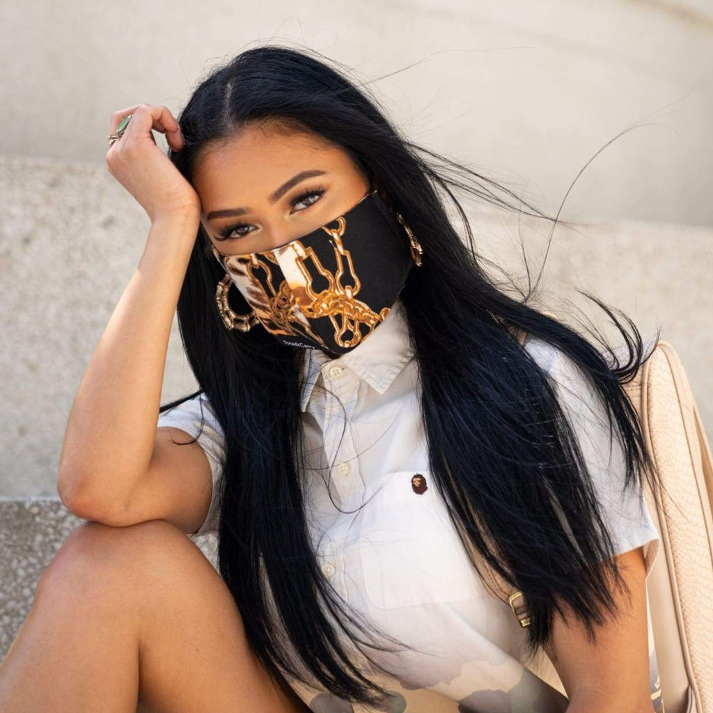 Black Gold Chain Mask - Tote&Carry
