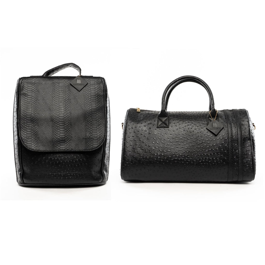 Black Legacy Travel Set - Regular Duffle + Backpack Tote&Carry