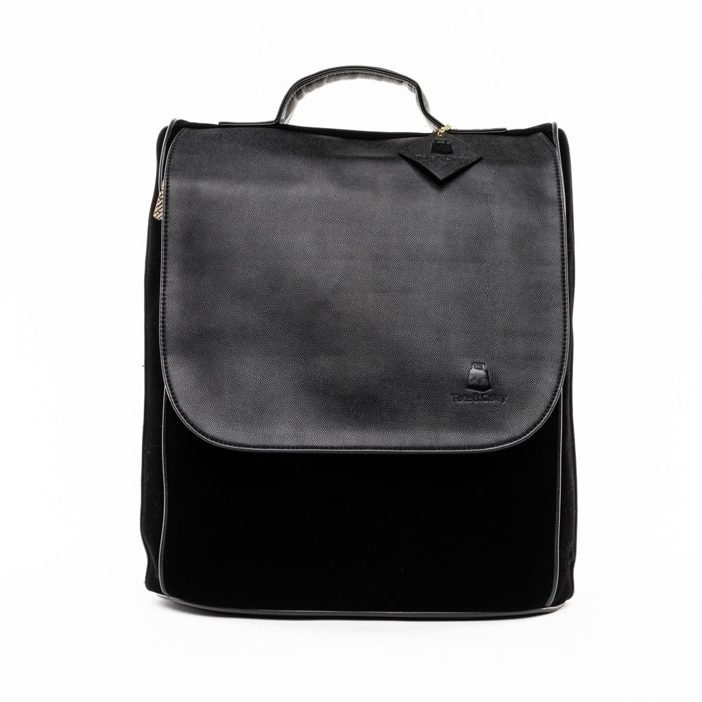 Black Velour Backpack - Tote&Carry