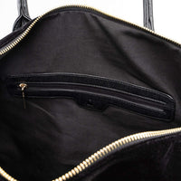 Black Velour Duffle - Tote&Carry